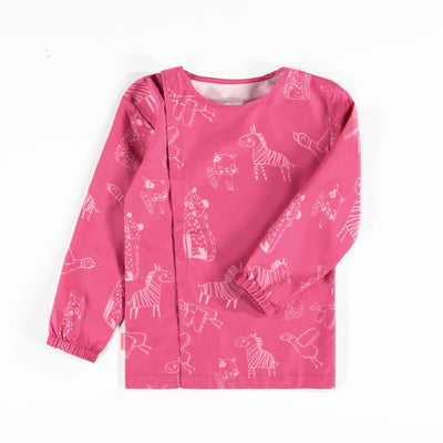 Couvre-tout rose à motifs || Pink Smock with Patterns