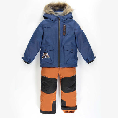 Habit de neige 3-en-1 bleu et brun || 3-in-1 Blue and Brown Snowsuit