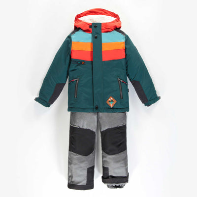 Habit de neige deux-pièces vert et orange || Green and Orange Two-piece Snowsuit