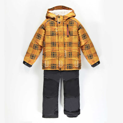 Habit de neige deux-pièces jaune à carreaux  || Yellow Checkered Two-piece Snowsuit