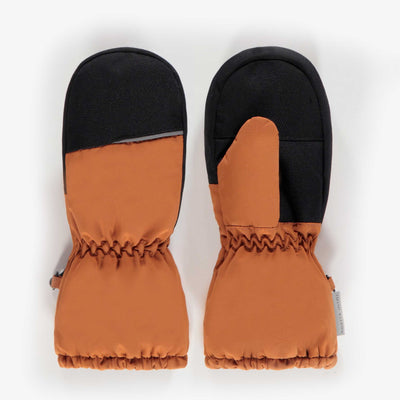 Mitaines doublées brunes, enfant   || Brown Lined Mittens, kid