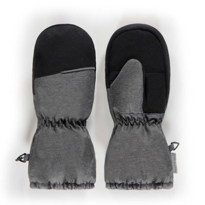 Mitaines doublées grises, enfant  || Grey Lined Mittens, kid