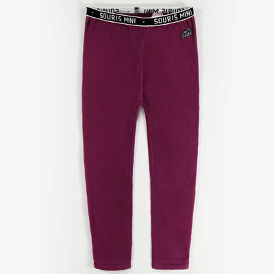 Pantalon en polar mauve || Purple Fleece Pants