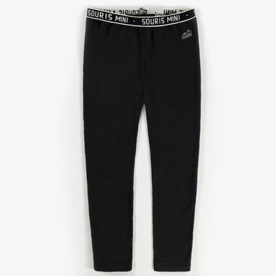 Pantalon en polar noir || Black Fleece Pants