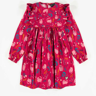 Robe rose à motifs, fille  || Pink Patterned Dress, Girl