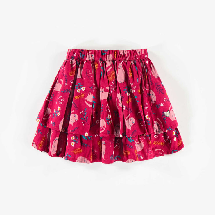 Jupe rose à motifs, fille  || Pink Patterned Skirt, Girl
