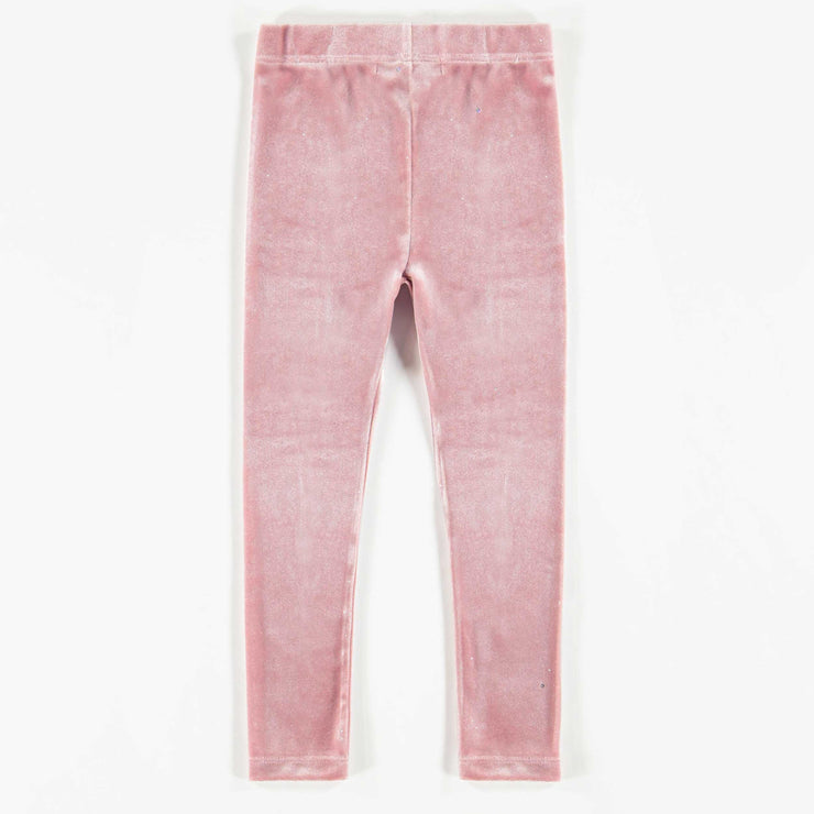 Legging de velours rose brillant, fille  || Shiny Pink Velvet Leggings, Girl