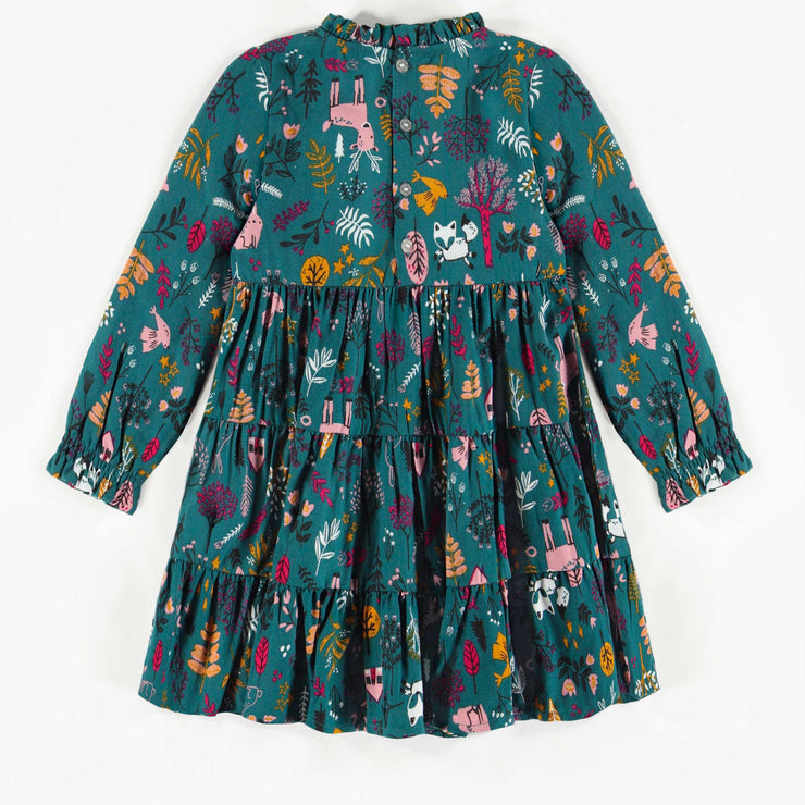 Robe verte à motifs, fille  || Green Patterned Dress, Girl