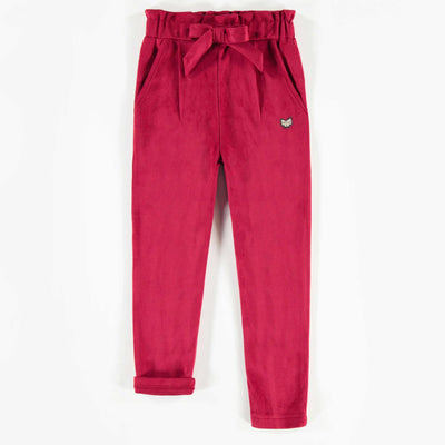 Pantalon bourgogne, fille  || Burgundy Pants, Girl
