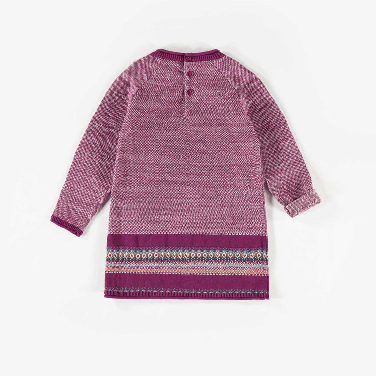 Robe mauve en maille  || Purple Knit Dress