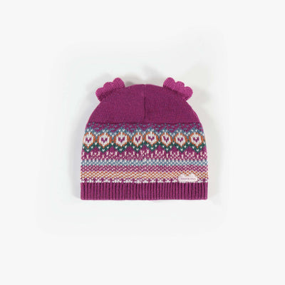 Chapeau de maille mauve   || Knit Purple Hat
