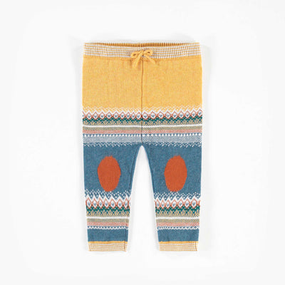 Pantalon de maille jaune et bleu   || Knit Yellow and Blue Pants