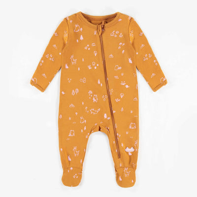 Pyjama jaune en coton biologique || Organic Cotton Yellow Pyjamas