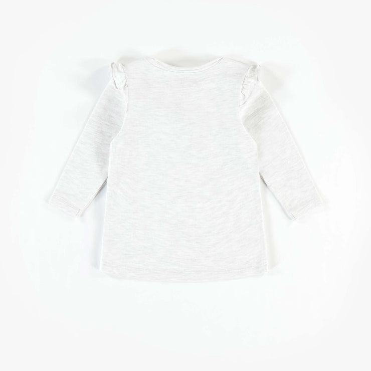 T-shirt crème à manches longues en coton biologique  || Cream Long-sleeve T-shirt in Organic Cotton