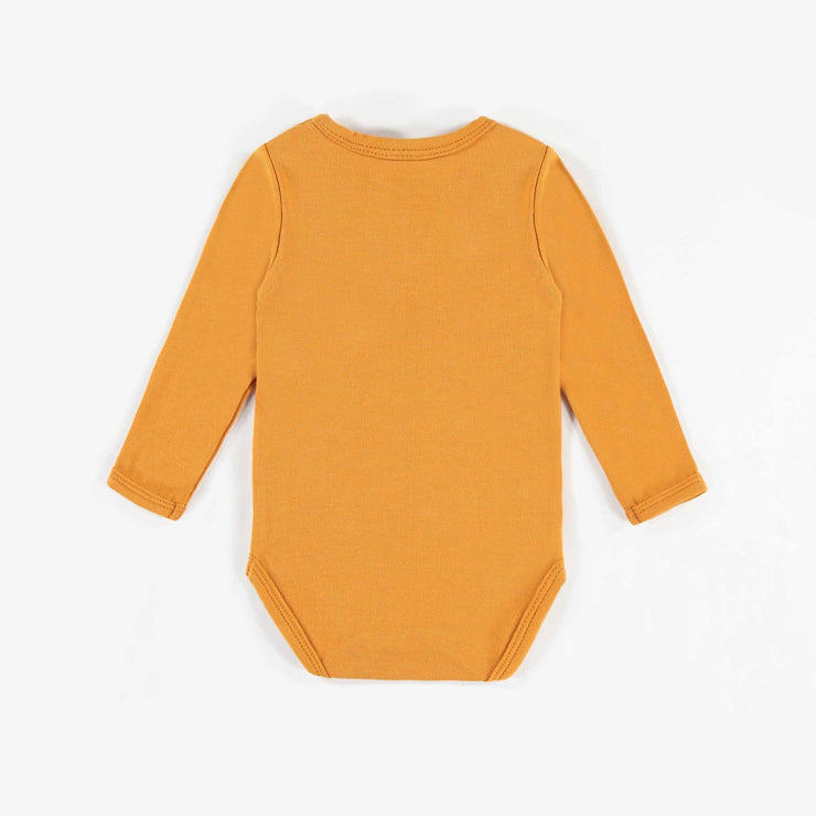 Cache-couche jaune en coton biologique   || Yellow Organic Cotton Bodysuit