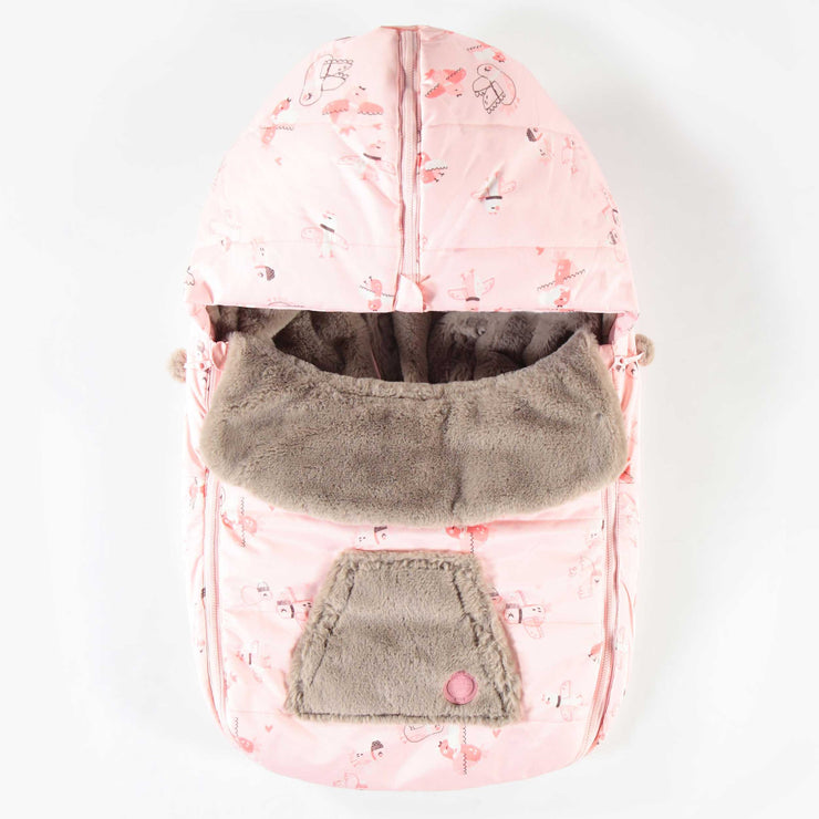 Housse rose pour coquille || Pink Car Seat Cover
