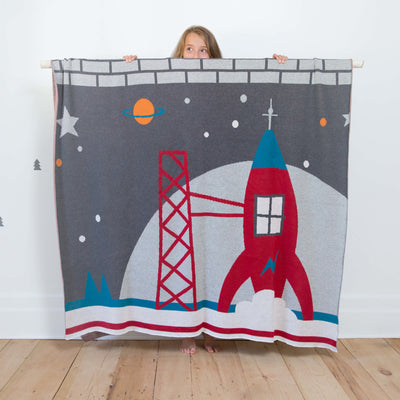 Jeté Fusée || Rocket Throw Blanket