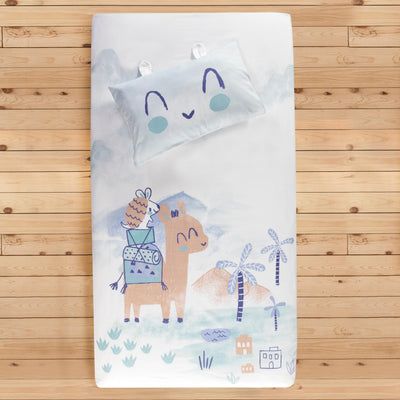 Ensemble drap contour chameau pour lit de bébé || Camel Fitted Sheet Set for Baby's Crib