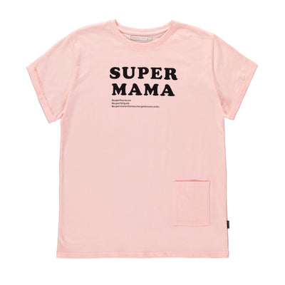 SUPER T-shirt rose en jersey || SUPER Pink Jersey T-shirt