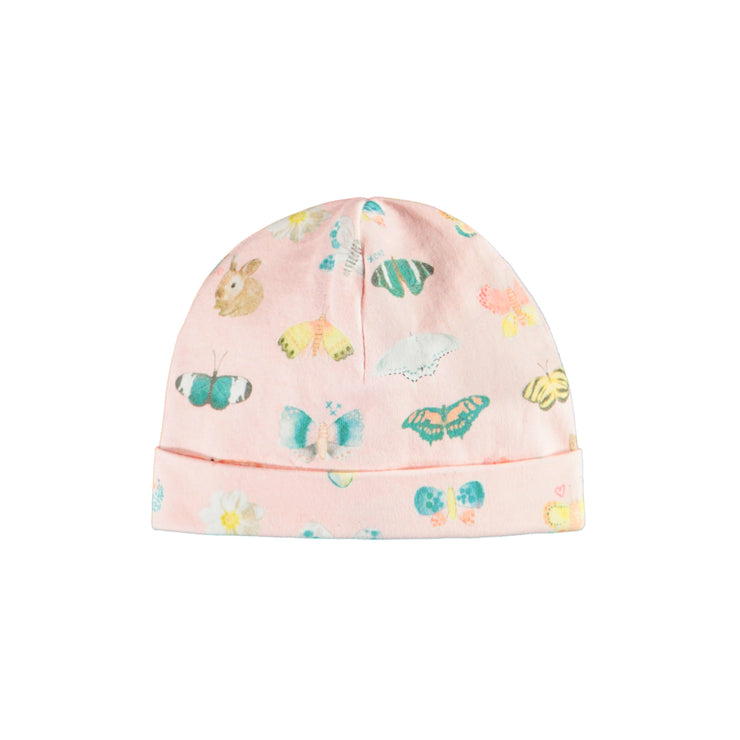 Bonnet rose à motif || Patterned Pink Beanie