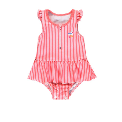 Maillot une-pièce à rayures || Striped One-piece Swimsuit