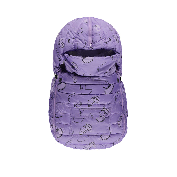 Housse de siège d'auto (nid d'ange) || Purple Puffer One-Piece