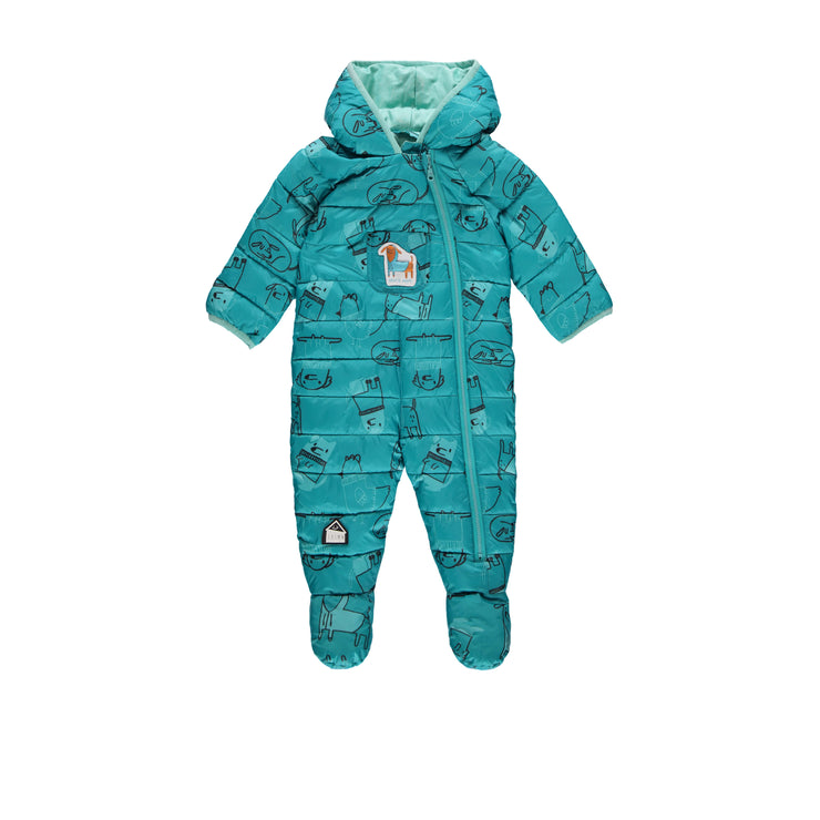 Une-pièce turquoise style doudoune || Teal Puffer One-Piece