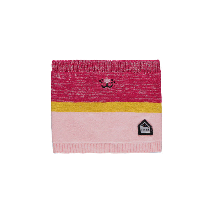 Cache-cou rose et jaune || Pink and Yellow Neck Warmer