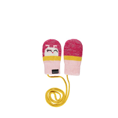 Mitaines roses et jaunes || Pink and Yellow Mittens