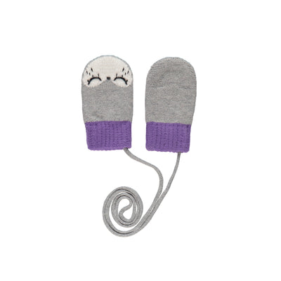 Mitaines grises et mauves || Grey and Purple Mittens