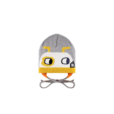 Tuque grise, jaune et orange || Grey, Yellow and Orange Toque