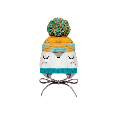Tuque grise, turquoise et orange || Grey, Teal and Orange Toque
