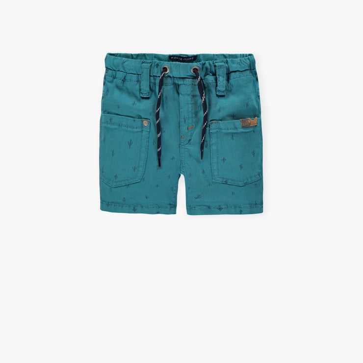 Bermuda en denim turquoise || Teal Denim Shorts