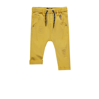 Pantalon en denim jaune -Coupe régulière || Yellow Denim Pants - Regular Fit