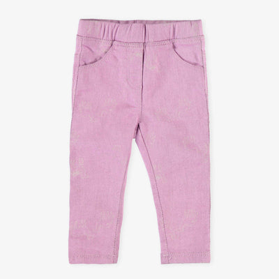 Pantalon en denim mauve || Purple Jog Denim Pants