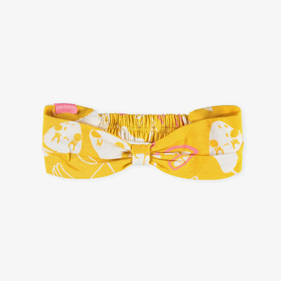 Bandeau croisé jaune, bébé || Yellow Twisted Headband, Baby