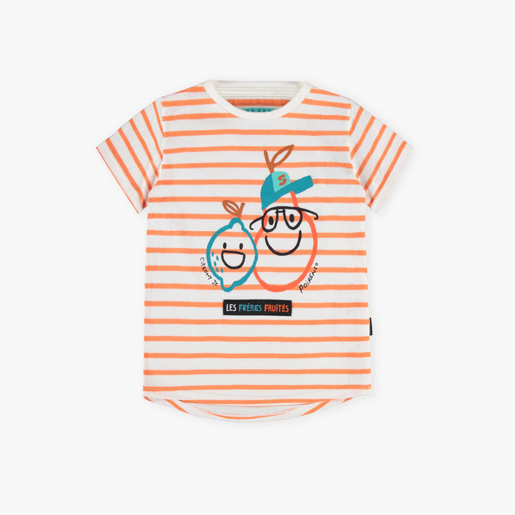T-shirt à rayures orange  || Orange Stripe T-shirt