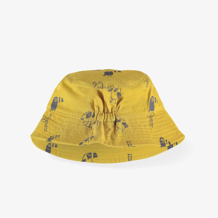 Chapeau de soleil jaune, enfant || Yellow Sun Hat, Kid