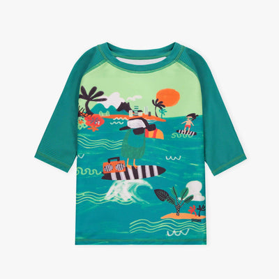 T-shirt de bain menthe || Mint Swim T-shirt