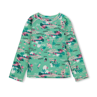 T-shirt de bain menthe à manches longues || Long-Sleeve Swim T-shirt