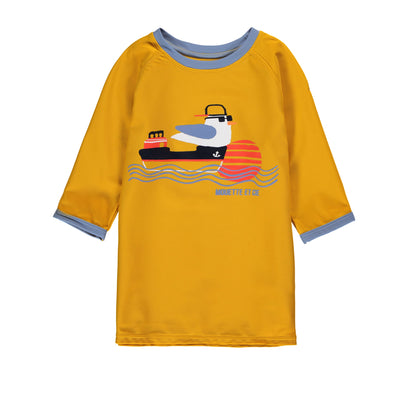 T-shirt de bain jaune || Yellow Swim T-shirt
