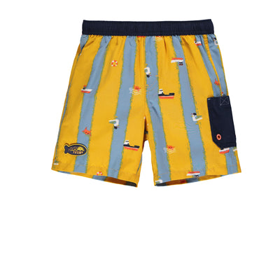 Short de bain jaune || Yellow Swim Shorts
