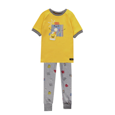 Pyjama deux-pièces évolutif gris et jaune || Grey and Yellow Two-piece Adjustable Pyjamas