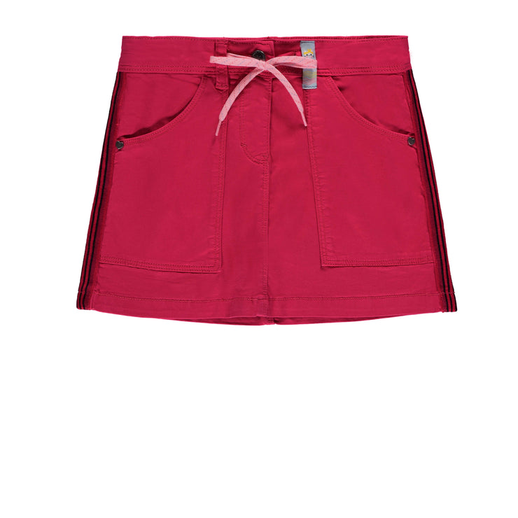 Jupe rose en twill extensible || Stretch Twill Pink Skirt