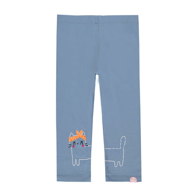 Legging ¾ bleu gris  || ¾ Blue-grey Leggings