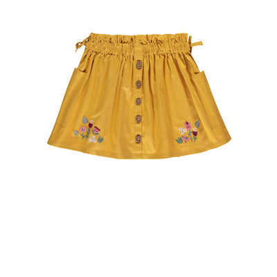 Jupe jaune à fleur || Yellow Skirt with Flowers