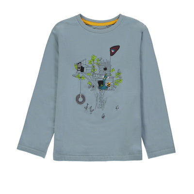 T-shirt à manches longues bleu || Blue Long-sleeve T-shirt