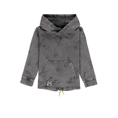 Chandail gris à capuchon || Grey Hooded Sweater