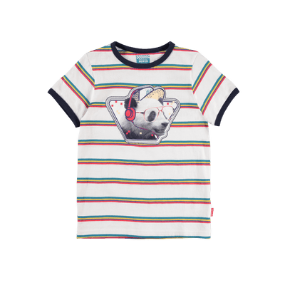 T-shirt panda et rayures || Panda and Stripes T-shirt