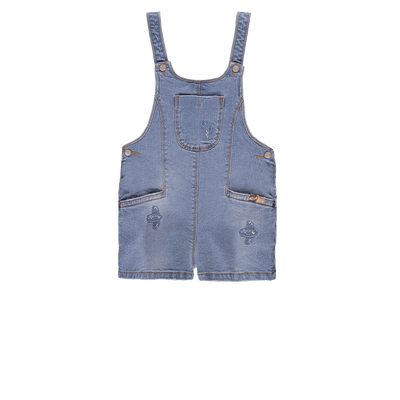 Salopette courte en denim || Denim Short Overall